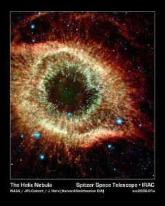 The Helix Nebula, Star Death - photo courtesy The Evolving Universe / Smithsonian National Museum of Natural History and the Smithsonian Astrophysical Observatory