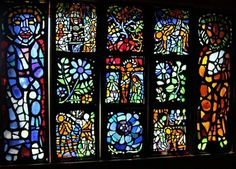 One of Ashley Bryan's Sea Glass stained glass windows.