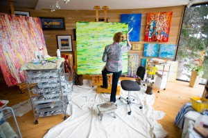 Swartz in her studio March 2013 (2)
