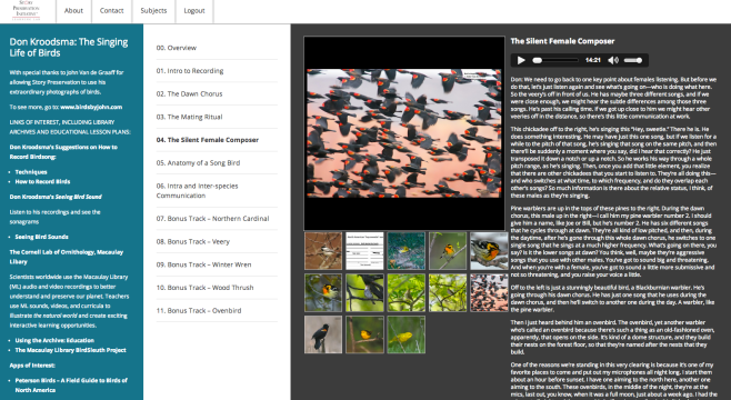 A page from the Learning Lab section titled Environmentalists / Naturalists