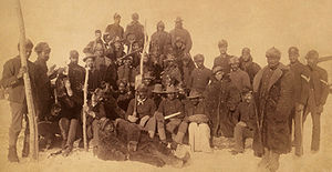 Buffalo Soldiers of the 25th Infantry Regiment in 1890